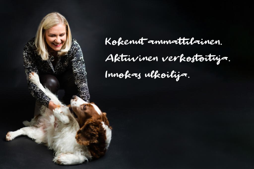 Telegraafi Marja-Terttu Rantanen ja Rambo